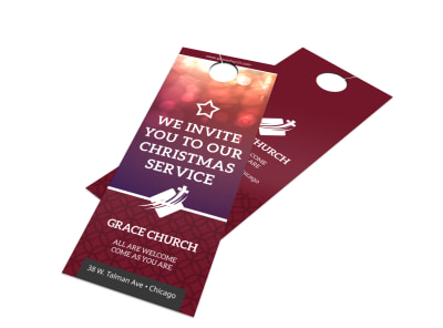 Church Outreach Door Hanger Template 4ir3873net preview