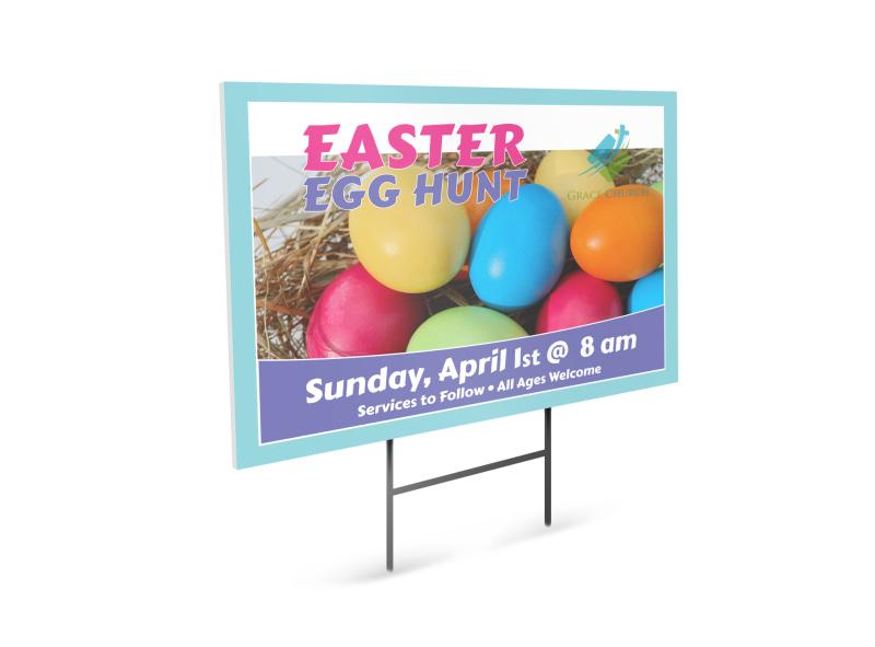Easter Egg Hunt Yard Sign Template