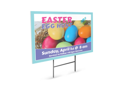 Easter Egg Hunt Yard Sign Template preview