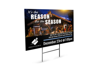 Christmas Church Yard Sign Template preview