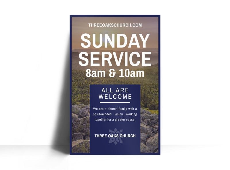 Sunday Service Poster Template