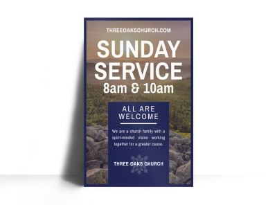 Sunday Service Poster Template preview