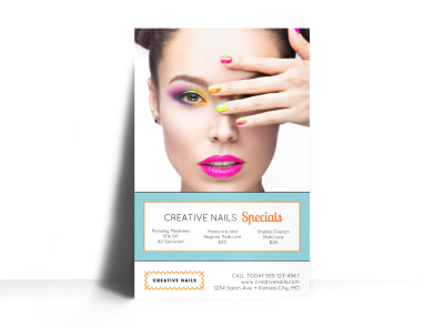 Nail Salon Advertising Specials Poster Template