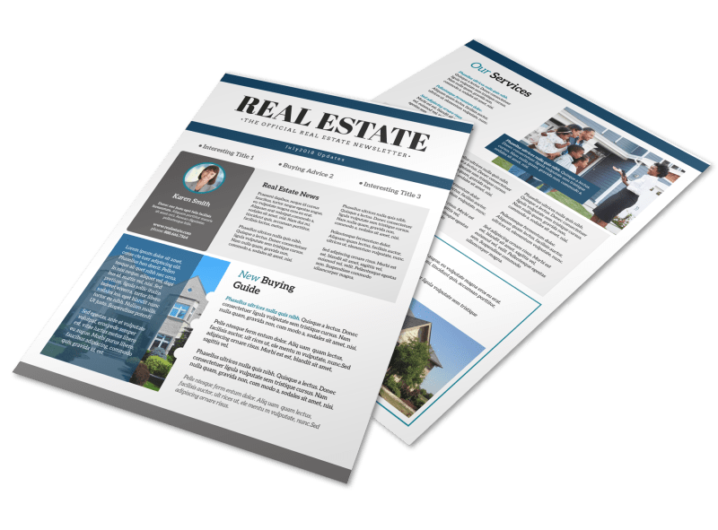 Simple Real Estate Newsletter Template Preview 1