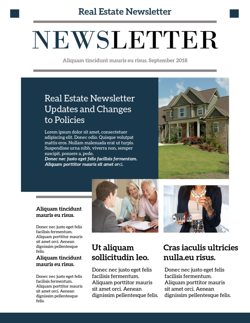 Modern Real Estate Newsletter Template Preview 2