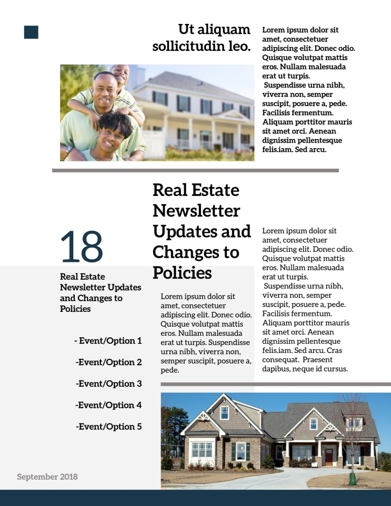 Modern Real Estate Newsletter Template Preview 3