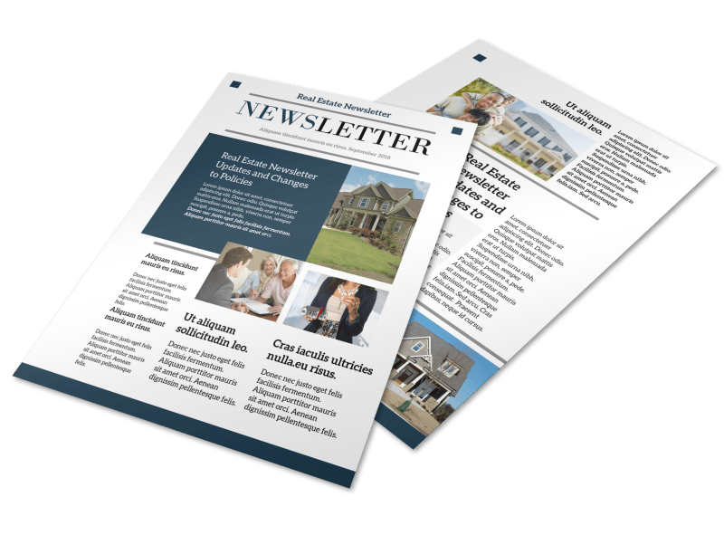Modern Real Estate Newsletter Template Preview 1