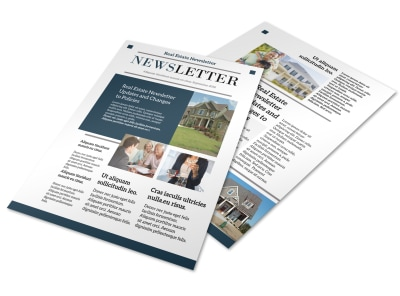 Modern Real Estate Newsletter Template preview