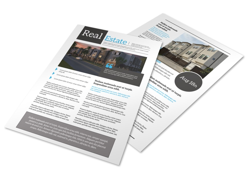 pro real estate newsletter template mycreativeshop