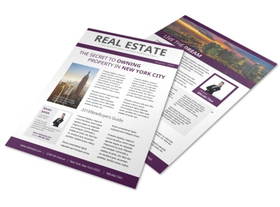 Stunning Real Estate Newsletter Template preview