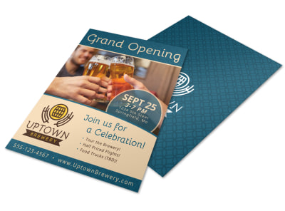 Grand Opening Brewery Flyer Template preview