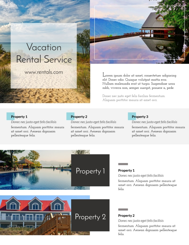 Stunning Travel Vacation Rental Flyer Template Preview 2