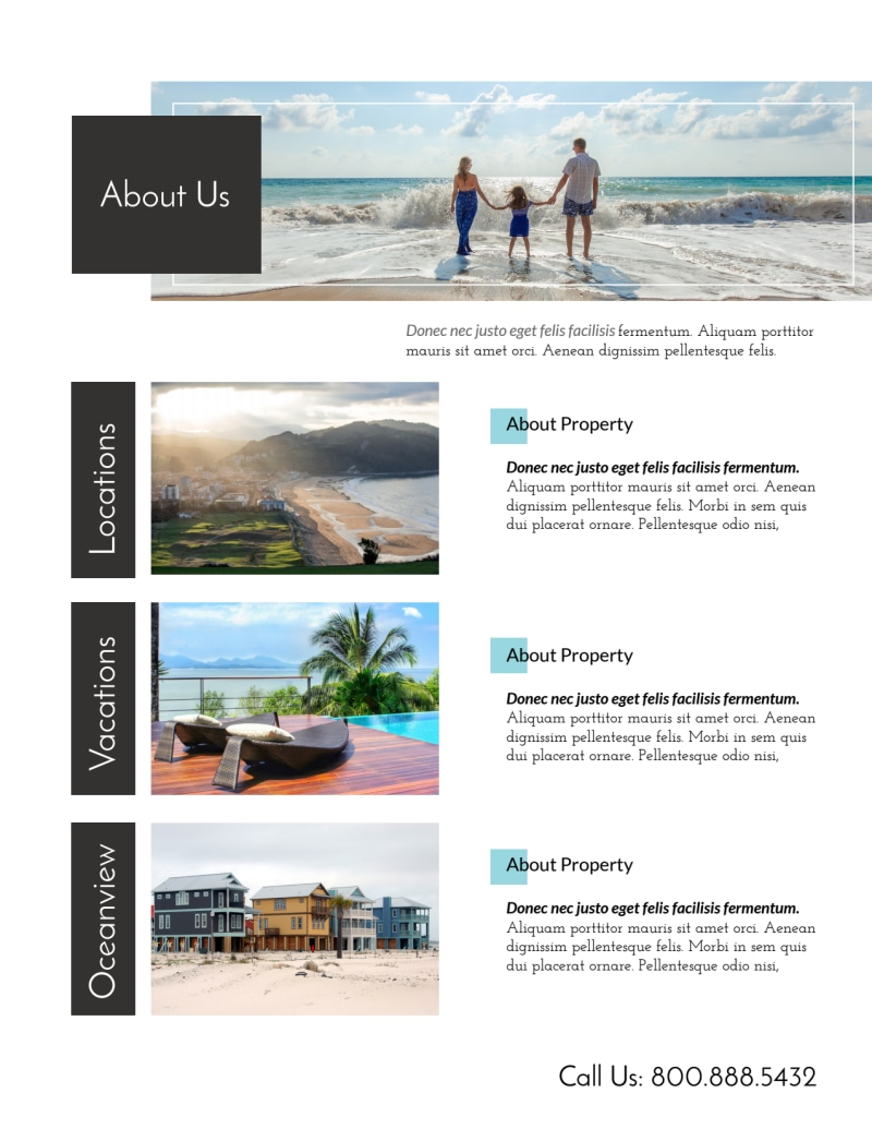 Stunning Travel Vacation Rental Flyer Template Preview 3