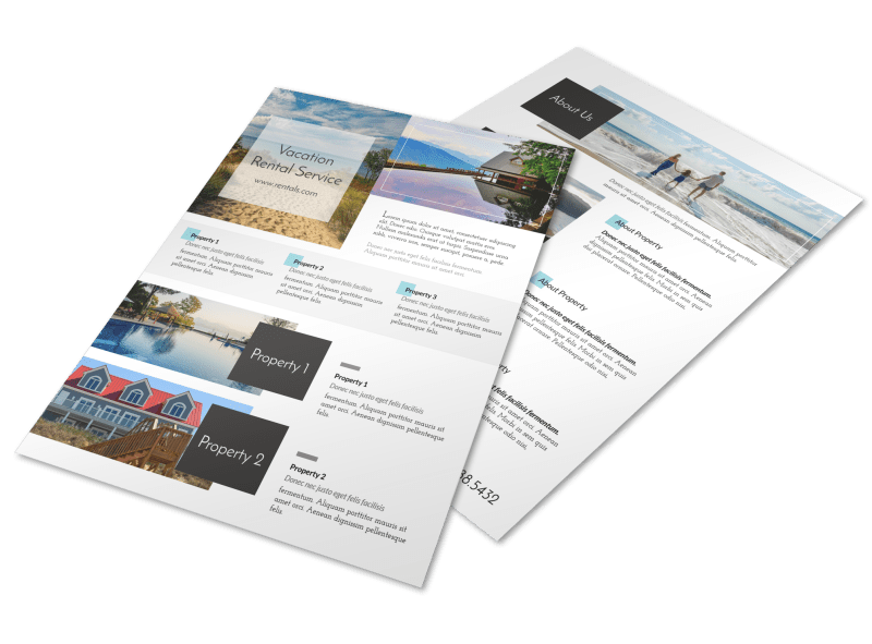 Stunning Travel Vacation Rental Flyer Template Preview 1