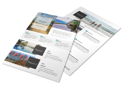Stunning Travel Vacation Rental Flyer Template
