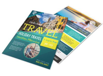 Travel Holiday Packages Flyer Template preview