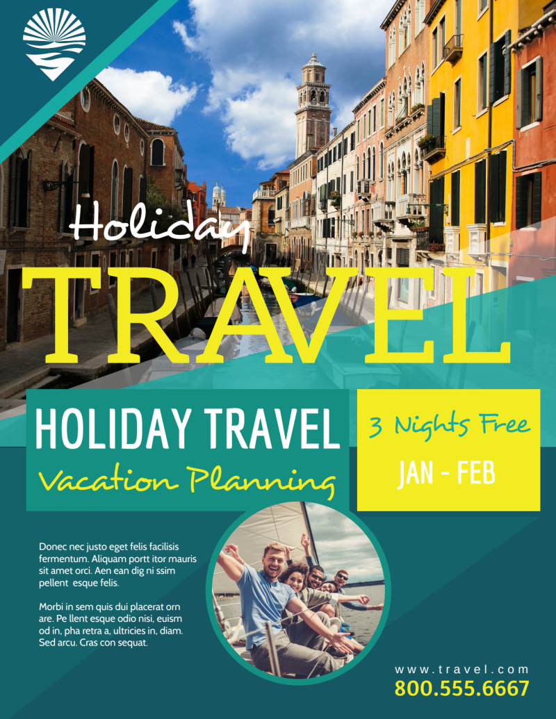 Travel Holiday Packages Flyer Template Preview 2