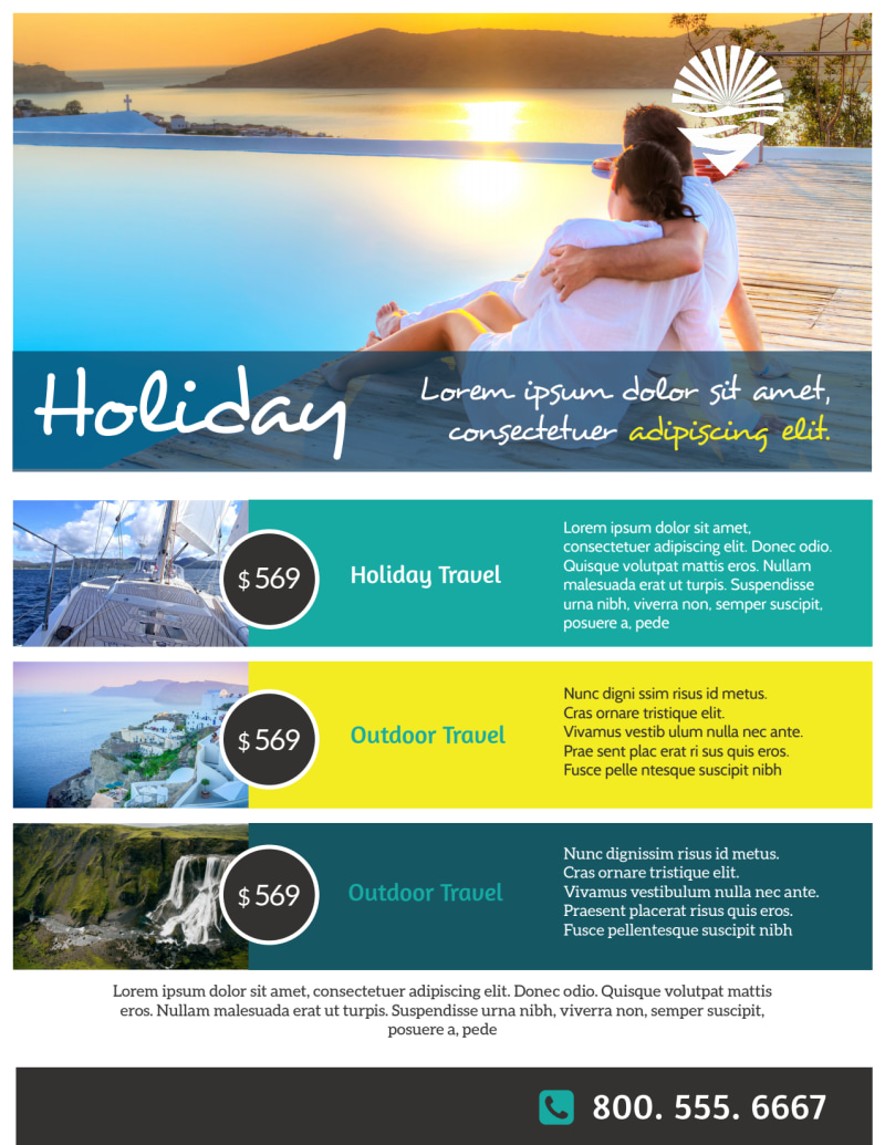 Travel Holiday Packages Flyer Template Preview 3