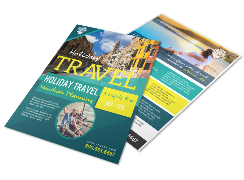 Travel Holiday Packages Flyer Template Preview 1