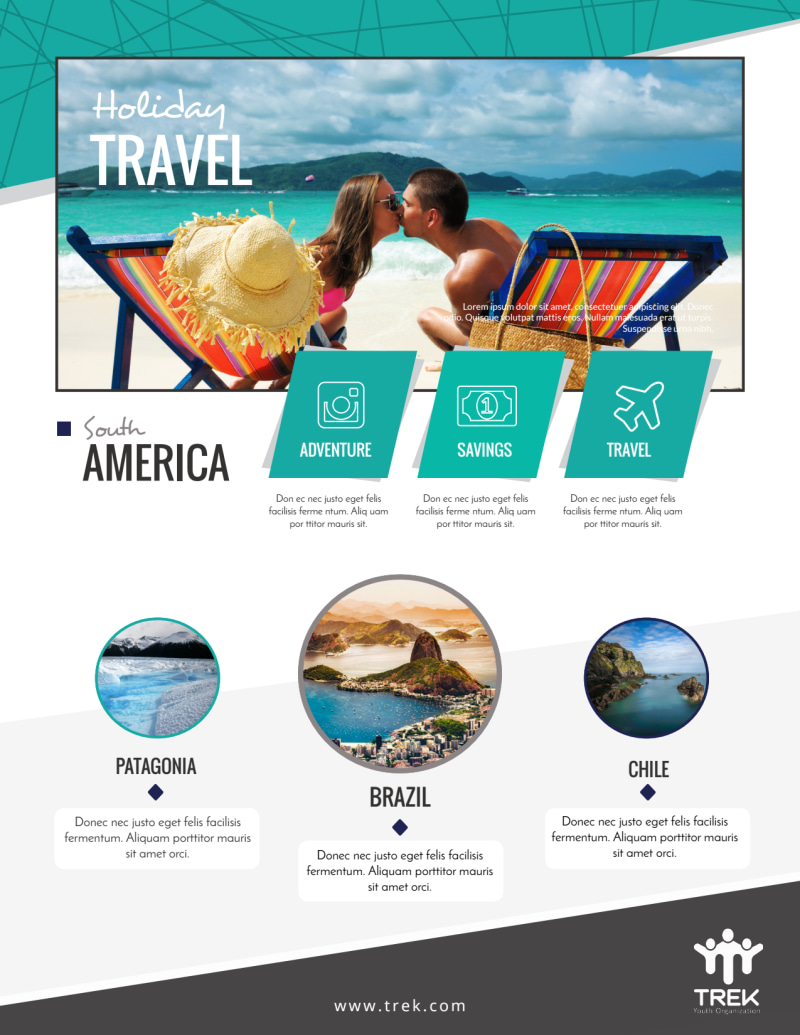 Awesome Travel Holiday Packages Flyer Template Preview 2