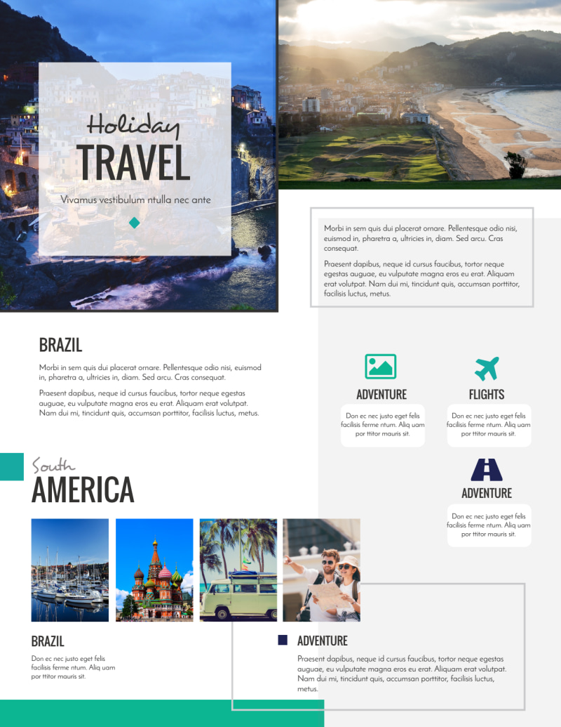 Awesome Travel Holiday Packages Flyer Template Preview 3