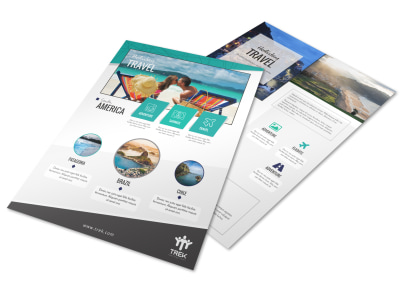 Awesome Travel Holiday Packages Flyer Template preview