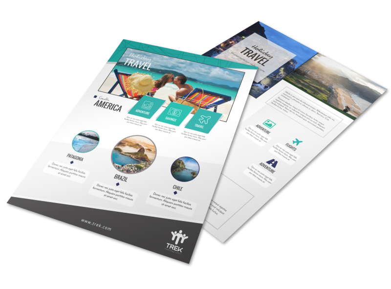 Awesome Travel Holiday Packages Flyer Template