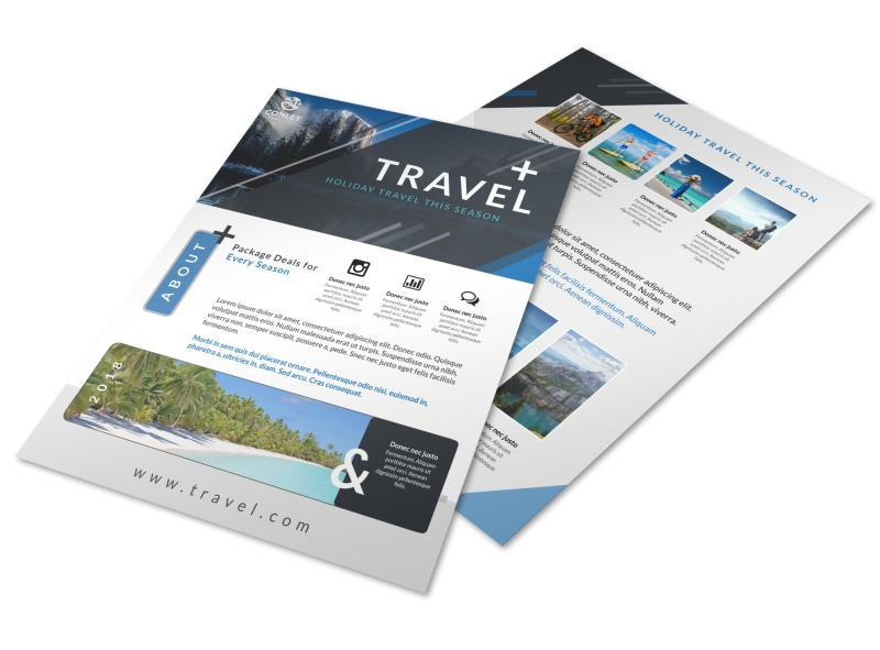 Beautiful Travel Holiday Packages Flyer Template  Mycreativeshop