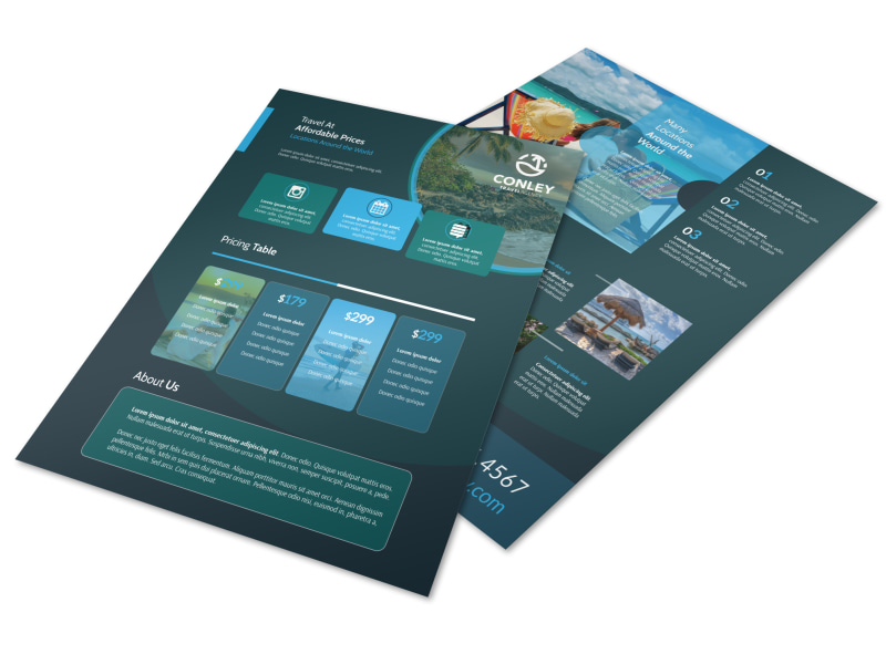 Natural Travel Holiday Packages Flyer Template