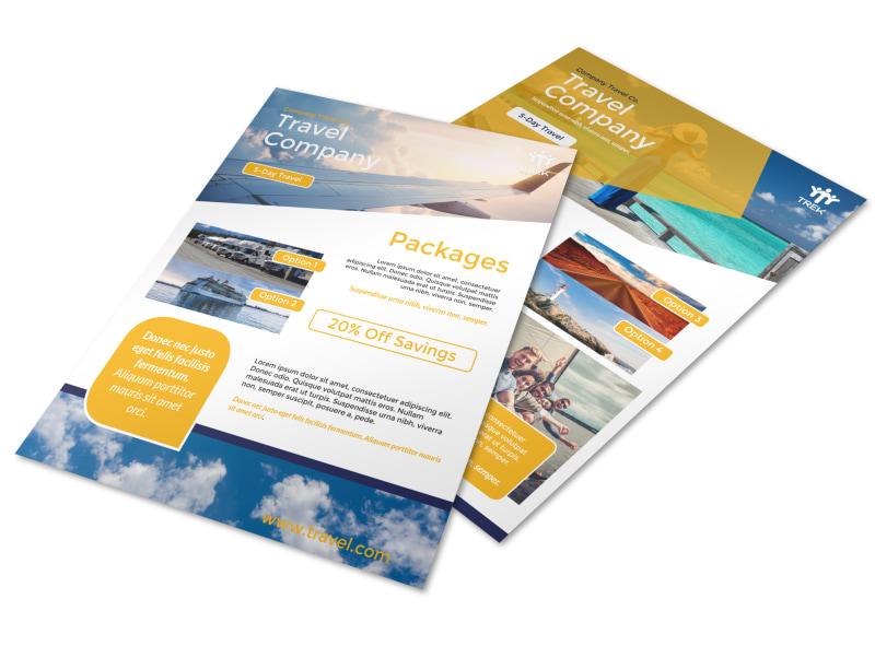 Travel Company Tour Flyer Template Mycreativeshop