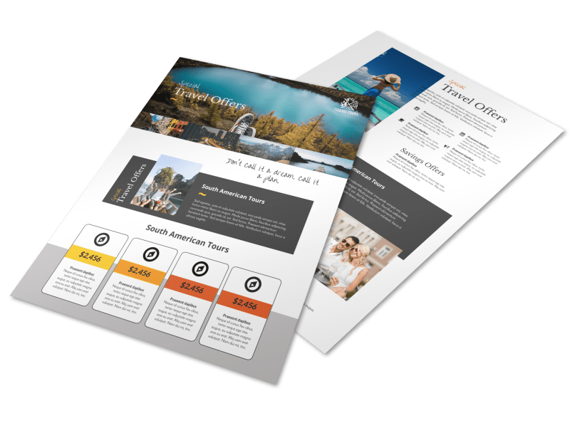 Special Travel Offer Flyer Template Preview 1