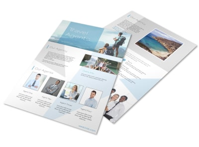 Stunning Travel Agents Flyer Template preview