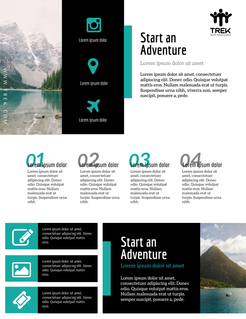 Modern Travel Vacation Packages Flyer Template Preview 2