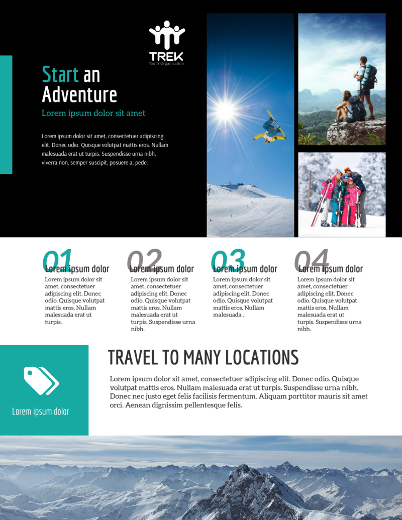 Modern Travel Vacation Packages Flyer Template Preview 3