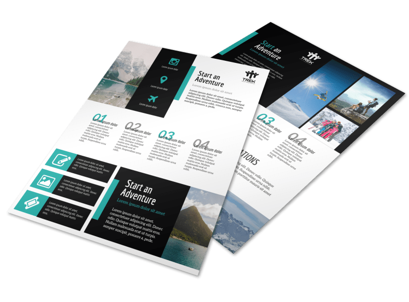 Modern Travel Vacation Packages Flyer Template Preview 1