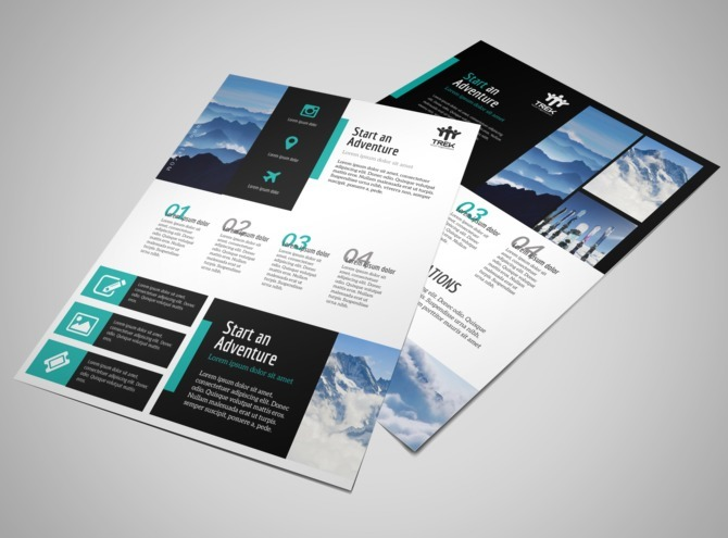 Modern Travel Vacation Packages Flyer Template