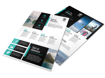 Modern Travel Vacation Packages Flyer Template preview