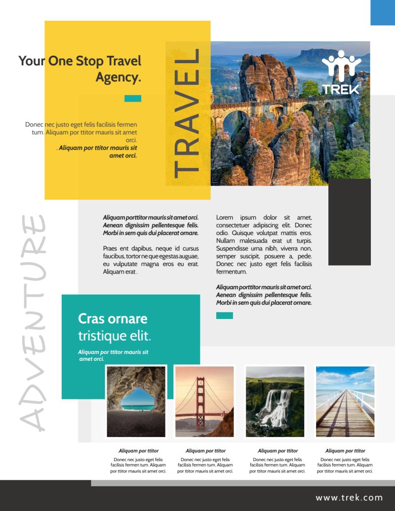 Outdoor Travel Activities Flyer Template Preview 2