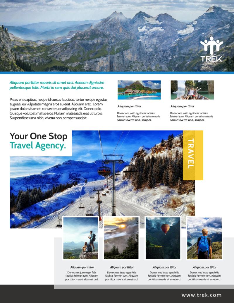 Outdoor Travel Activities Flyer Template Preview 3
