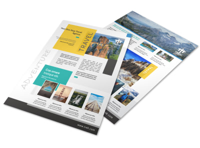 Outdoor Travel Activities Flyer Template preview