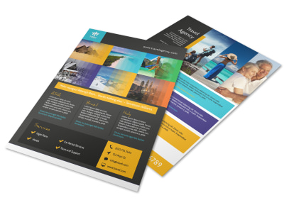 Awesome Travel Agency Flyer Template preview