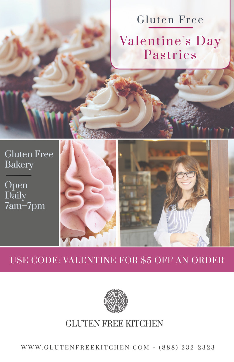 Valentine's Day Pastries Poster Template Preview 2