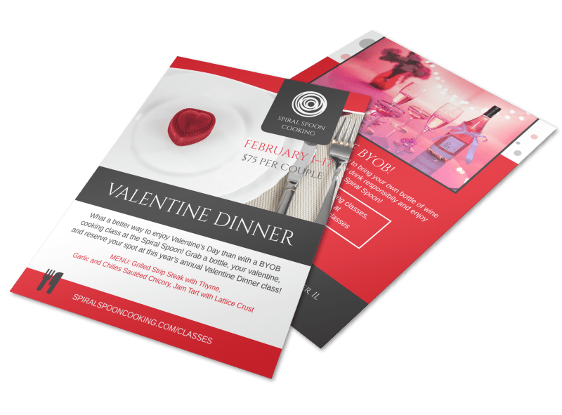 Valentine Dinner Flyer Template Preview 1