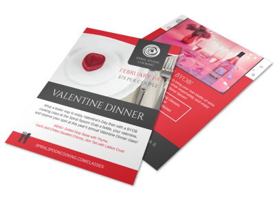 Valentine Dinner Flyer Template preview