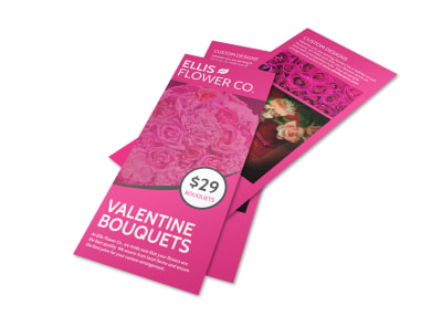 Valentine's Day Bouquet Flyer Template preview