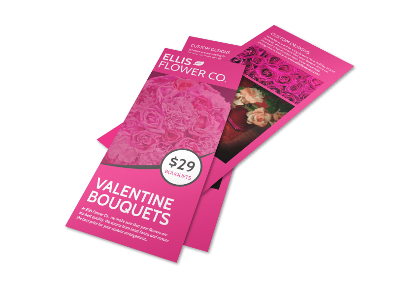 Valentine's Day Bouquet Flyer Template Preview 1