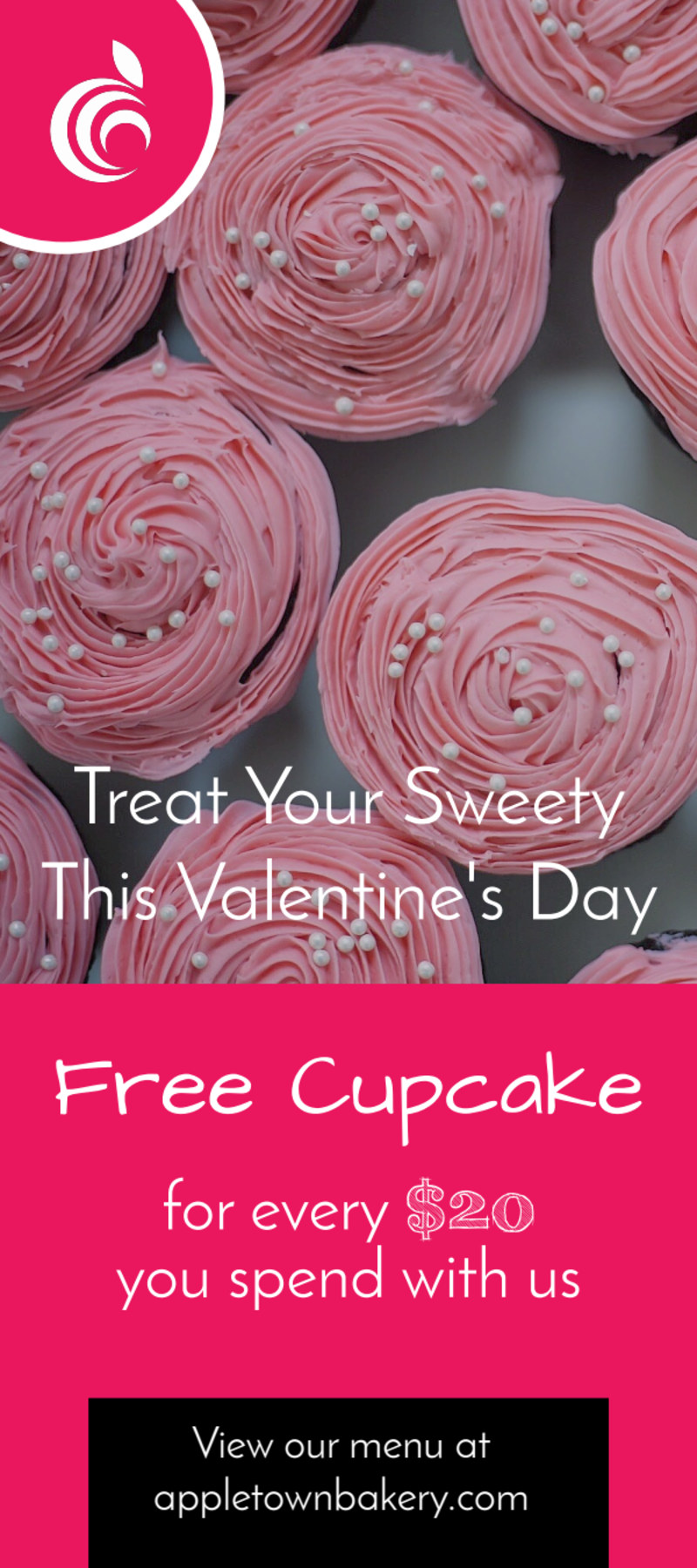 Valentine's Day Cupcake Flyer Template Preview 2