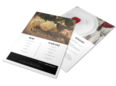 Valentine's Day Menus Template Preview