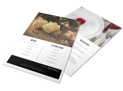 Valentine Menu Template preview