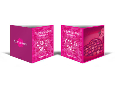 Valentine's Day Candy Table Tent Template preview